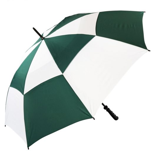 Green & White Windproof Golf Umbrella