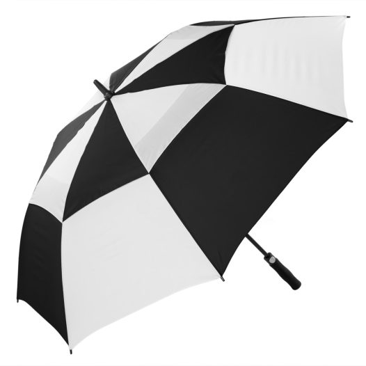 Black & White Vented Golf Umbrella