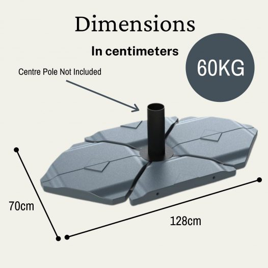 60 kg cantilever parasol base tiles