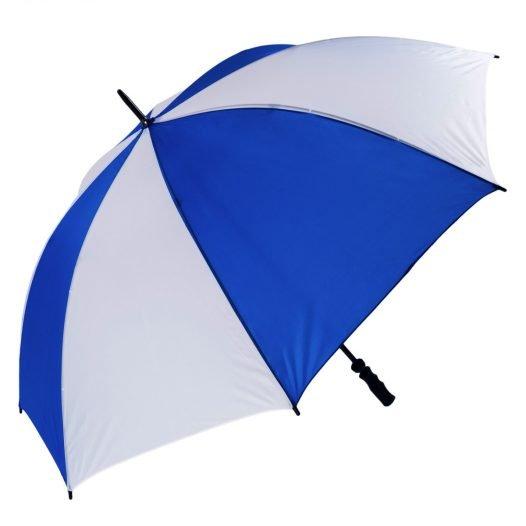 Windproof Royal Blue & White Golf Umbrella