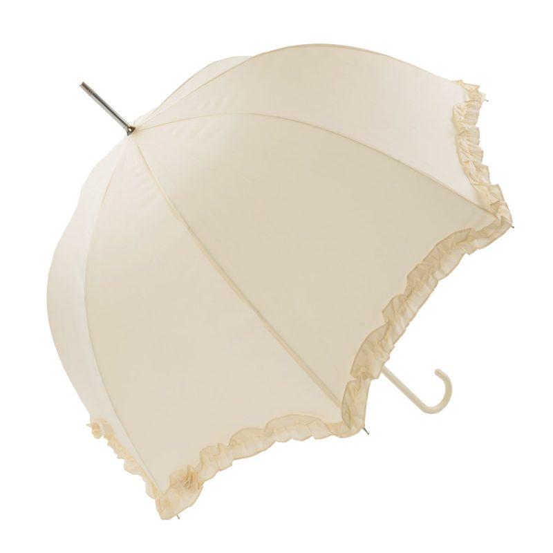 Ivory Frilled Umbrella
